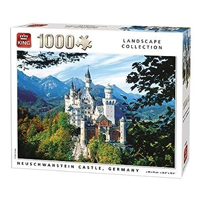 King 55855 Puzzle Con Castello Di Neuschwanstein 1000 Pezzi 68 X 49 Cm