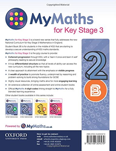 MyMaths: for Key Stage 3: Student Book 2B: Dave Capewell, Derek ...