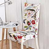 Chair Cover Floral Print Butterfly Home Dining Multifunctional Spandex Elastic Cloth Universal Stretch color 15 universal sizes