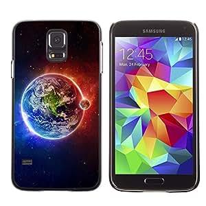 TopCaseStore / la caja del caucho duro de la cubierta de protección de la piel - Space Planet Galaxy Stars 63 - Samsung Galaxy S5 SM-G900