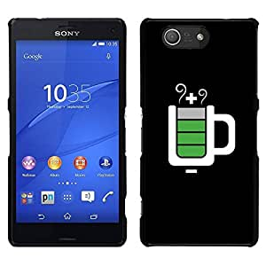 // PHONE CASE GIFT // Duro Estuche protector PC Cáscara Plástico Carcasa Funda Hard Protective Case for Sony Xperia Z3 Compact / Full Mug Black It Service /