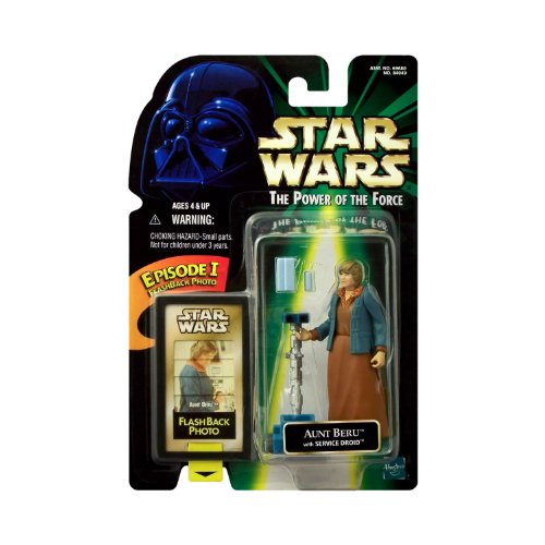 (Star Wars The Power of the Force Action Figure w/ Flashback Photo - Aunt Beru)