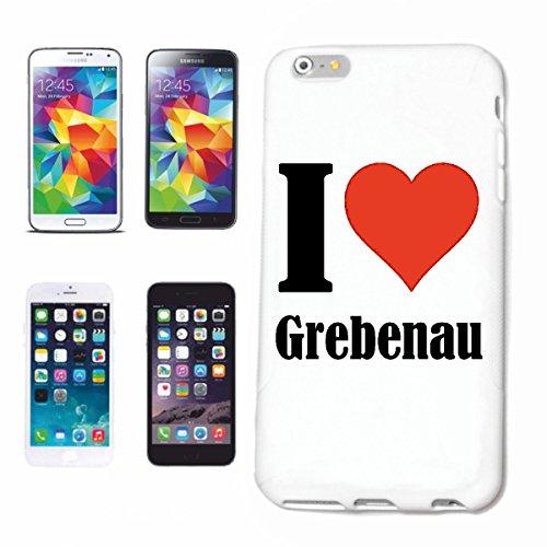 """Handyhülle iPhone 4 / 4S """"I Love Grebenau"""" Hardcase Schutzhülle Handycover Smart Cover für Apple iPhone … in Weiß … Schlank und schön, das ist unser HardCase. Das Case wird mit einem Klick auf deinem"""