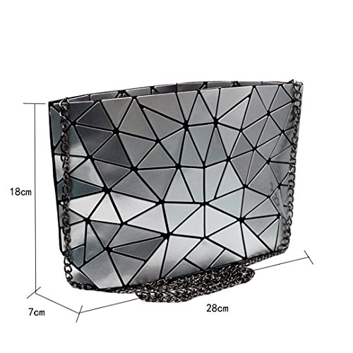 Silver Handbag Womens Meliya Clutch Laser Envelope Leather Shoulder Holographic Fashion Purse Bag Pqqwp