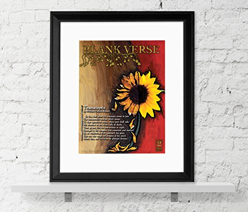 Blank Verse - Poetry Poster. Fine Art Print For Classroom, Library, Home or Guidance