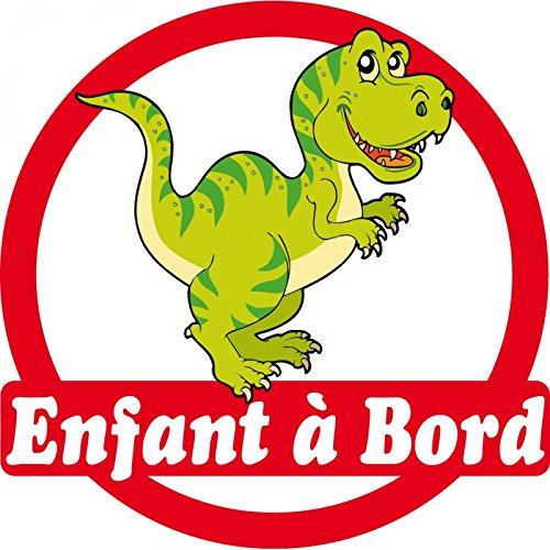 Sticker enfant à bord Dinosaure 16x16cm réf 163 Stickers Enfant