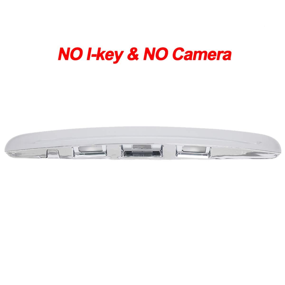 TOOGOO Maniglia del Cofano Posteriore del Portellone Posteriore Cromato Senza Foro per Fotocamera I-Key per Qashqai J10 2007-2014 Senza Foro per I-Key e Fotocamera