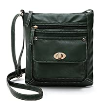 Womens Solid PU Leather Satchel Cross Body Messenger Bag