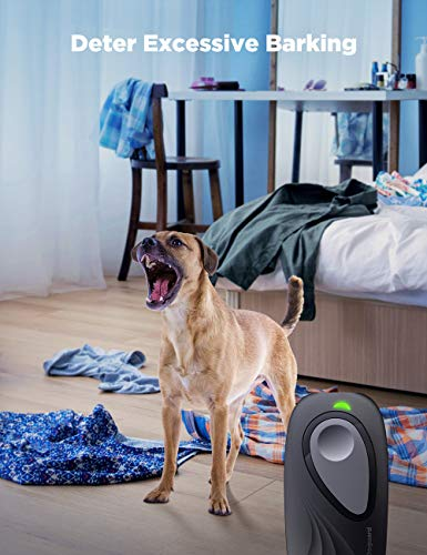 Doguard Anti Barking Device, Ultrasonic Dog Bark Deterrent 2 in 1 Dog Training Aid Control with 16.4ft Range Handheld Anti-Static Wrist Strap LED Indicator For All Sizes Dogs Outdoor Indoor