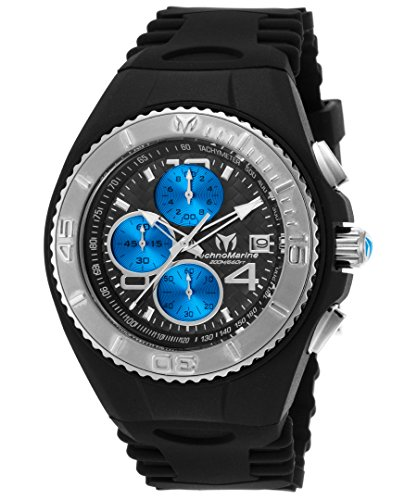 technomarine-tm-115348-mens-cruise-jellyfish-chronograph-black-silicone-black-dial-watch