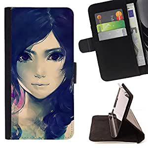 Jordan Colourful Shop - Cute Beautiful Anime Girl For Samsung GALAXY Note 5/N9200 - Leather Cover Case High Impact Absorption Case -