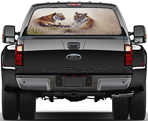 (Tigers Animals Rear Back Window Decal Graphic Sticker Car Truck SUV Van 752, Huge)
