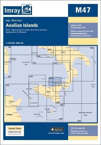Imray Chart M47: Aeolian Islands (M Series)
