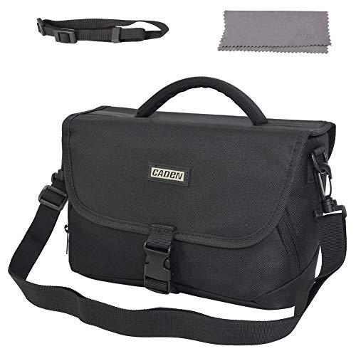 Bag Case Shoulder Messenger Bag Compatible for Nikon, Canon, Sony, DSLR SLR Waterproof Black ()