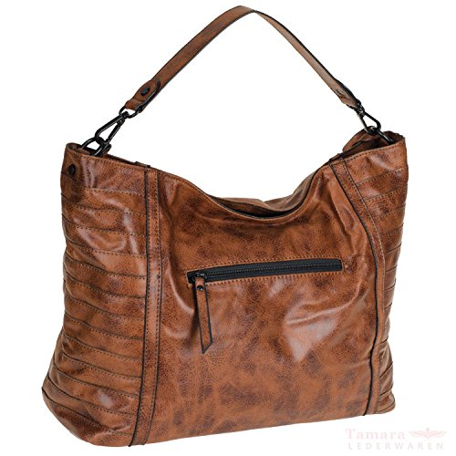 Emily cognac Damentasche Noah 38x15x26cm 60223 rIrCq