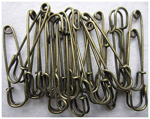 Outus 30 Pieces Extra Large Safety Pins Stainless Steel Heavy Duty Safety Pins for Blankets 4 Inch and 3 Inch Skirts Kilts