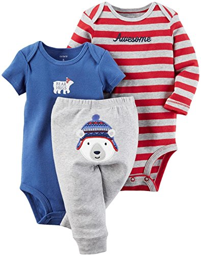 Carter's Baby Boys' 3 Pc Back Art 126g422, Heather, - Az Outlet Premium