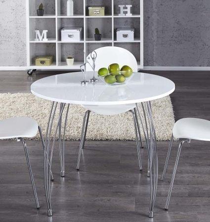 lounge-zone COMPATTO Tavolo da cucina tavolo da pranzo ARRON bianco tondo  diametro 90cm 10970