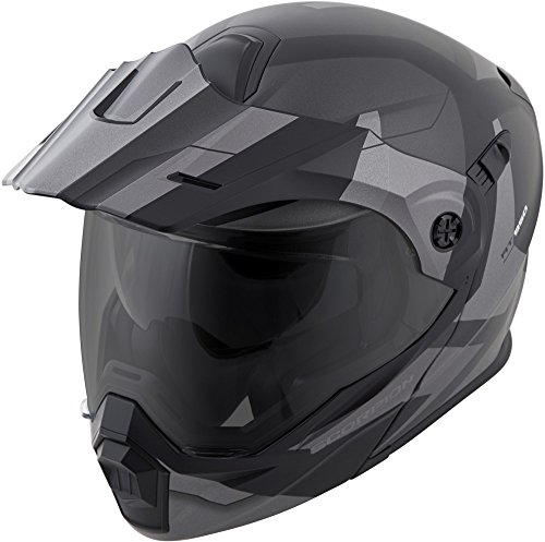 Helmet Scorpion Modular (Scorpion EXO-AT950 Modular Neocon Street Bike Motorcycle Helmet - Silver/Large)