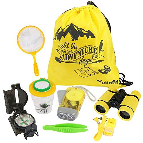 kilofly 8-in-1 Kids Nature Explorer Kit Fun Backyard Bug Catching Adventure Pack by kilofly