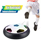 Kids Hover Soccer Ball Air Football Disk Toy for Boys Girls Age of 2-16 Year Old, Indoor Outdoor Sports Training Game football with LED Lights ,Foam Bumpers edges Children Gifts