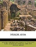 Mekor Ayim, , 117914449X