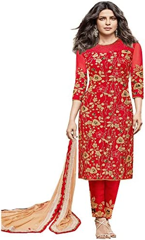 adbb3c3525 Salwar Suit for women's ( VH FASHION Present Net Semi-Stitched Anarkali Suit  for women's color Top :- Red Bottom :- Red Dupatta :- Beige Occasion :-  party ...
