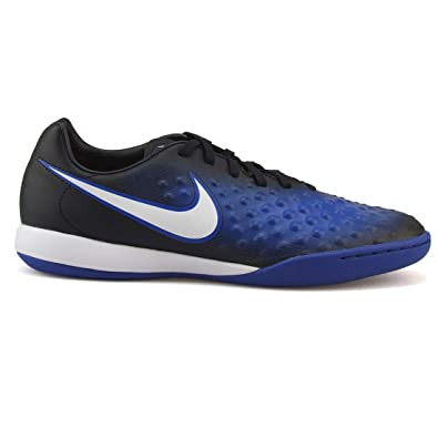 official photos 6dcbd 2c42d Nike Mens Magistax Onda II IC Black White Paramount Blue Soccer Shoes - 6.5