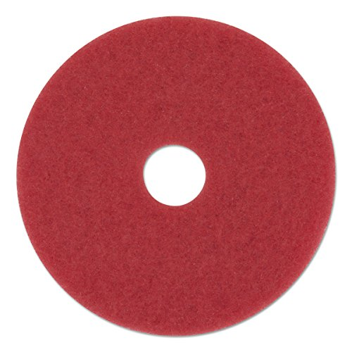 "Boardwalk 4020RED Standard Floor Pads, 20"" Diameter, Red (Case of 5)"