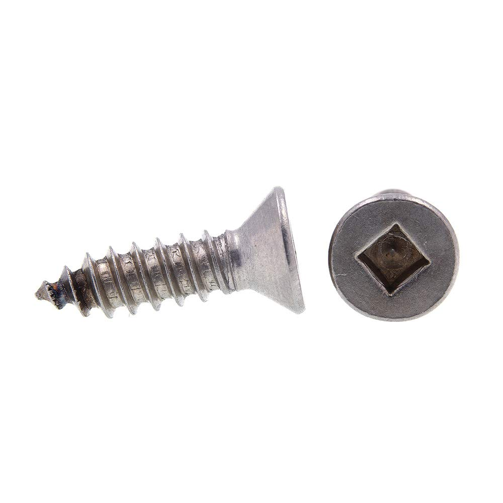 Prime-Line 9150648 Sheet Metal Screws Flat Head Self-Tapping 50-Pack #12 X 3//4 in Grade 18-8 Stainless Steel Square Drive