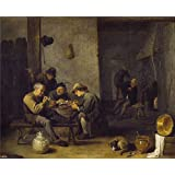 Canvas Prints Of Oil Painting ' Teniers David Fumadores En Una Taberna 1631 40' 16 x 20 inch / 41 x 50 cm , High Quality Polyster Canvas Is For Gifts And Garage, Kids Room And Powder Room Decoration