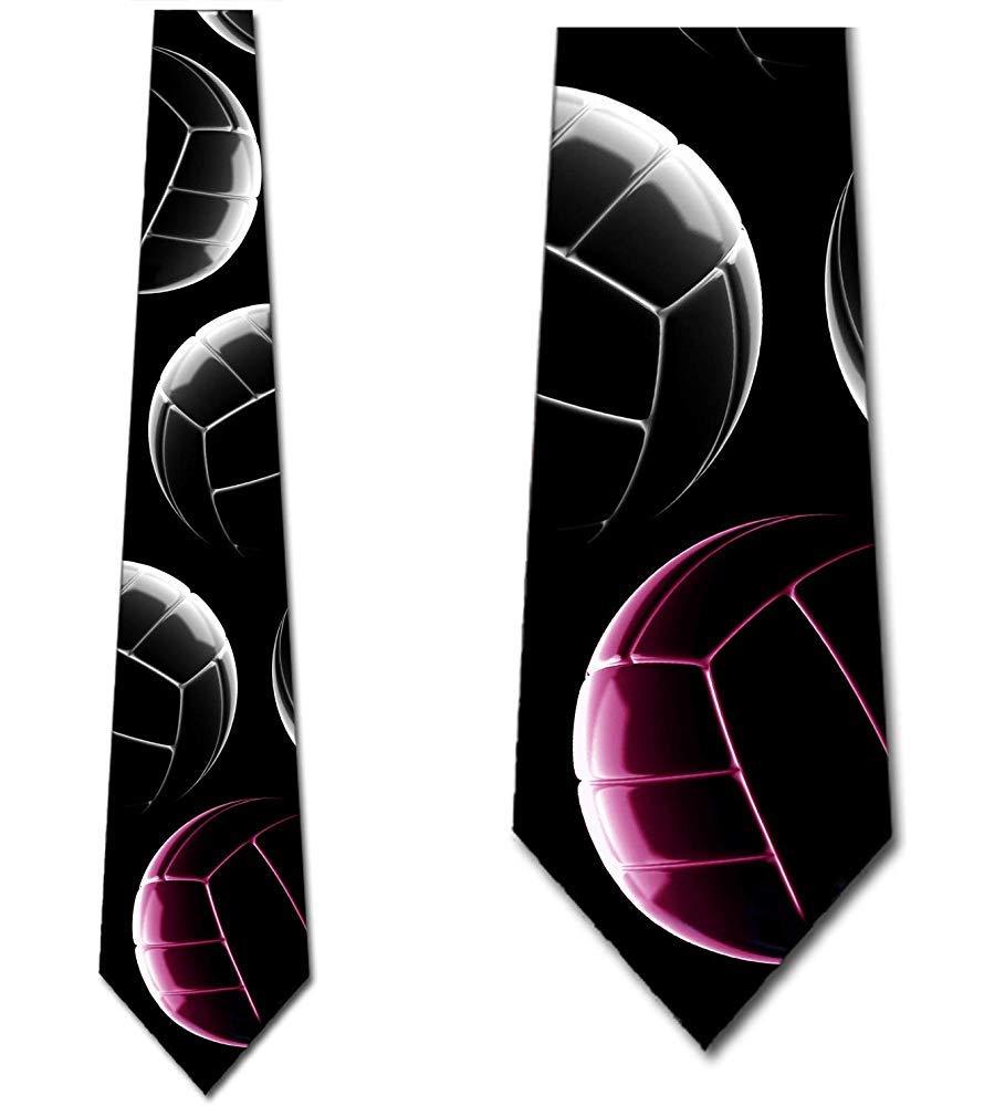 Corbatas deportivas para hombre voleibol corbata apilada rosa por ...