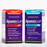 Weight Loss Supplement Combo Stack, Thermogenic Fat Burner & Appetite Suppressant Weight Loss Stack - LIPORIDEX MAX/PM Combo-StakTM - BEST VALUE Diet Combo Kit and Fat Loss Supplement Stack. Save and Lose More Now