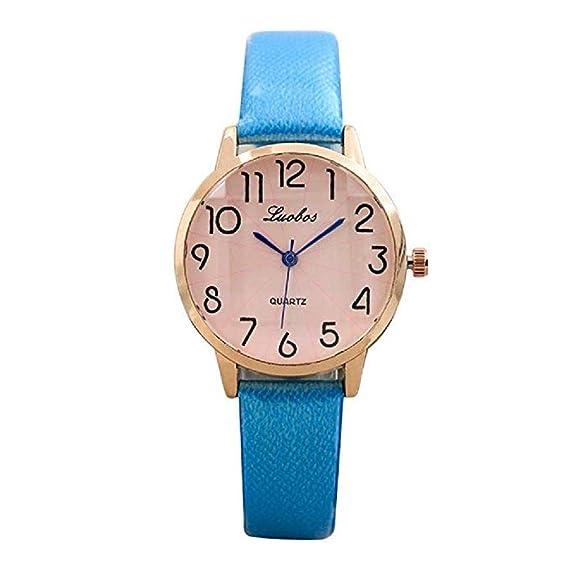 ad291762f Scpink Relojes de Cuarzo de Las Mujeres Reloj de Pulsera Simple dial  Digital Reloj de Las