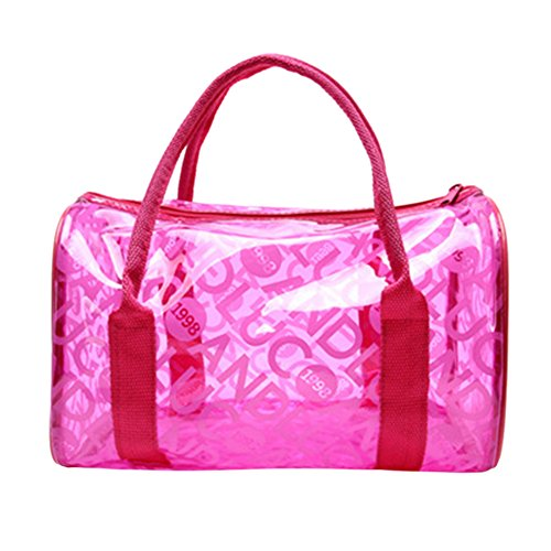 Swimming Bag Transparent Handbag Large Women's Format Waterproof Clear BoodTag Tote Bag Rose Beach Shoulder ag6xWnUH8