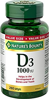 Nature's Bounty Vitamin D3 Pills, Supplement, Helps in the Development of Bones and Teeth, 1000iu, 250 Softgels (B00BMEICRG) | Amazon price tracker / tracking, Amazon price history charts, Amazon price watches, Amazon price drop alerts