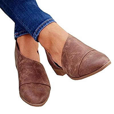 Nulibenna Womens Casual Slip-On Loafer Pointed Toe Cut Out Slip on Ankle Boot