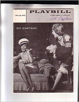 1958 Oh Captain Playbill Magazine at Alvin Theatre NYC New York City Advertisements Starring Tony Randall Abbe Lane McKeever