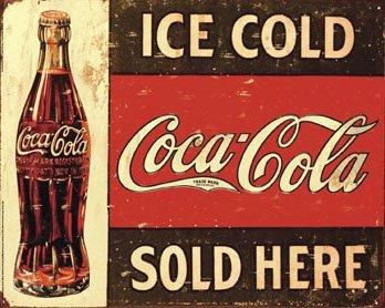 Coca Cola - Ice Cold Sold Here - Mini PAPER Poster - Measures 20