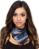 Women's Holographic Black Face Bandana Rave One Size