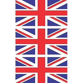 3 - British Flag Hard Hat Biker Helmet Stickers Decal