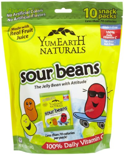YUMEARTH Sour Jelly Beans Family Bag, 7 OZ