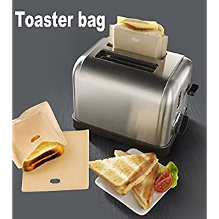 ALAIX Grilled Cheese Toaster Bags Reusable Non Stick Toast Bag Made of Premium Quality Teflon, Safest On The Market – FDA & LFGB Approved Sandwich Bread Make Cheeze Toasties,Pack of 2 Bags
