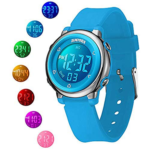 (Kid Digital Watch, 50M Waterproof Fashion Gift Sport Watch with Alarm Timer for Girls, Boys and Teens)