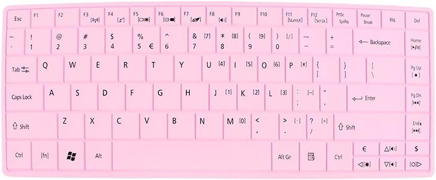 Silicona rosa película de PC teclado piel del teclado para ...