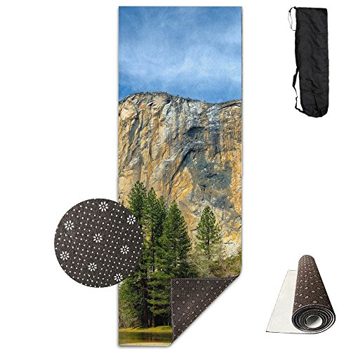 Autumn Forest Lake Mountains Yoga Mat - Advanced Yoga Mat - Non-Slip Lining - Easy To Clean - Latex-Free - Lightweight And Durable - Long 180 Width 61cm by Mmim