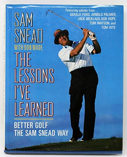 Sam Snead Autographed Signed Book The Lessons I'Ve Learned Golf Champ JSA V77536