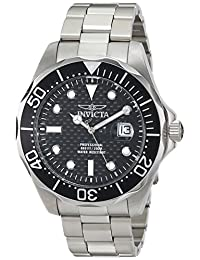 Invicta Men's 12562X Pro Diver Black Carbon Fiber Dial Stainless Steel Watch