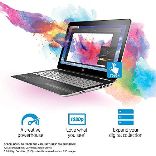 HP Pavilion 15-inch Laptop, Intel Core i5-7300HQ, NVIDIA GeForce GTX 1050, 12GB RAM, 1TB hard drive, Windows 10 (15-bc220nr, Silver) by HP (Image #1)