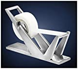 ArtsOnDesk Modern Art Tape Dispenser St202 Stainless Steel Satin Finish Patented High-end Desk Accessory Office Organizer Adhesive Transparent Cutter Holder Christmas Fathers Valentines Day Gift